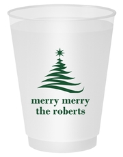 Artistic Christmas Tree Shatterproof Cups