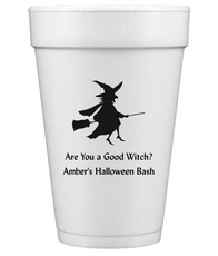 Flying Witch Styrofoam Cups