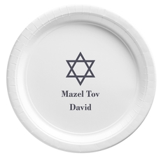 Traditional Star of David Paper Plates