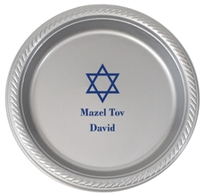 Traditional Star of David Plastic Plates