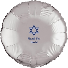 Traditional Star of David Mylar Balloons