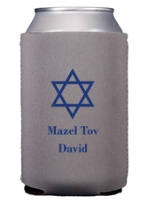 Traditional Star of David Collapsible Koozies