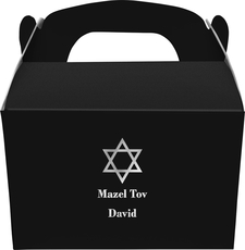 Traditional Star of David Gable Favor Boxes