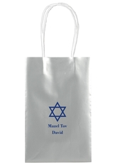 Traditional Star of David Medium Twisted Handled Bags