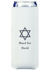 Traditional Star of David Collapsible Slim Koozies