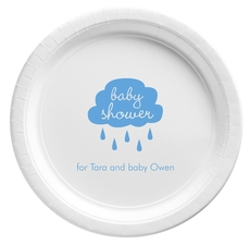 Baby Shower Cloud Paper Plates