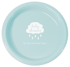 Baby Shower Cloud Plastic Plates