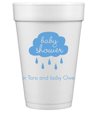 Baby Shower Cloud Styrofoam Cups