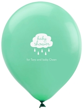 Baby Shower Cloud Latex Balloons