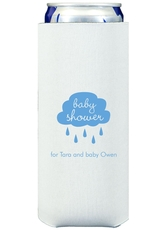 Baby Shower Cloud Collapsible Slim Koozies