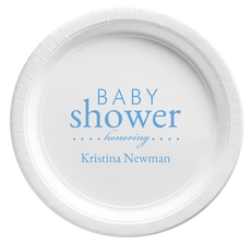 Baby Shower Honoring Paper Plates