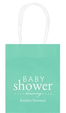 Baby Shower Honoring Mini Twisted Handled Bags