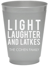 Light Laughter And Latkes Colored Shatterproof Cups
