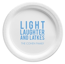 Light Laughter And Latkes Paper Plates