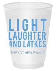 Light Laughter And Latkes Shatterproof Cups