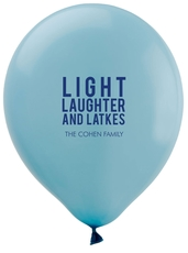 Light Laughter And Latkes Latex Balloons