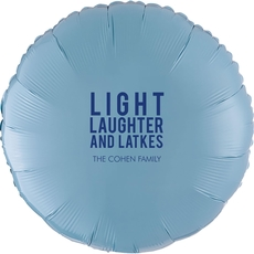 Light Laughter And Latkes Mylar Balloons