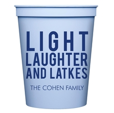 Light Laughter And Latkes Stadium Cups