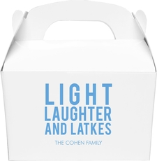 Light Laughter And Latkes Gable Favor Boxes