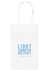 Light Laughter And Latkes Medium Twisted Handled Bags