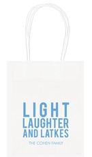 Light Laughter And Latkes Mini Twisted Handled Bags