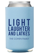 Light Laughter And Latkes Collapsible Koozies