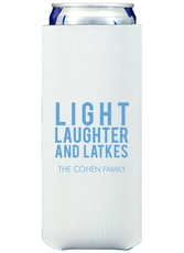 Light Laughter And Latkes Collapsible Slim Koozies