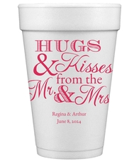Hugs and Kisses Styrofoam Cups