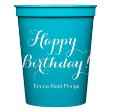 Darling Happy Birthday Stadium Cups