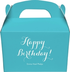 Darling Happy Birthday Gable Favor Boxes