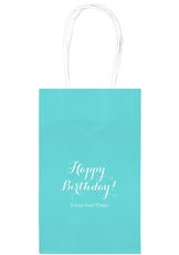 Darling Happy Birthday Medium Twisted Handled Bags