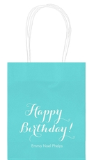 Darling Happy Birthday Mini Twisted Handled Bags