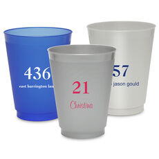 Design Your Own Big Number Colored Shatterproof Cups