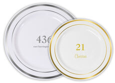 Design Your Own Big Number Premium Banded Plastic Plates