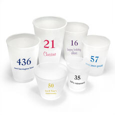 Design Your Own Big Number Shatterproof Cups