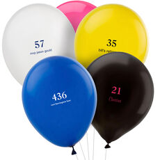 Design Your Own Big Number Latex Balloons