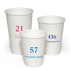 Design Your Own Big Number Paper Coffee Cups