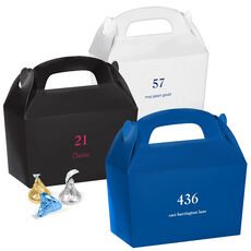 Design Your Own Big Number Gable Favor Boxes