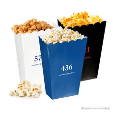 Design Your Own Big Number Mini Popcorn Boxes