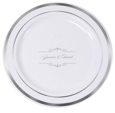 Bellissimo Scrolled Premium Banded Plastic Plates