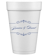 Bellissimo Scrolled Styrofoam Cups
