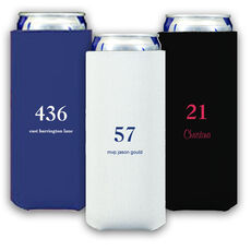 Design Your Own Big Number Collapsible Slim Koozies