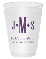 Condensed Monogram with Text Shatterproof Cups