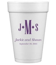 Condensed Monogram with Text Styrofoam Cups