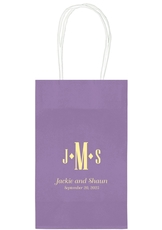 Condensed Monogram with Text Medium Twisted Handled Bags