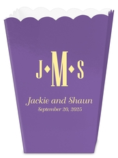 Condensed Monogram with Text Mini Popcorn Boxes