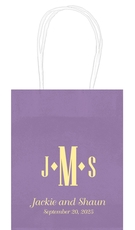 Condensed Monogram with Text Mini Twisted Handled Bags