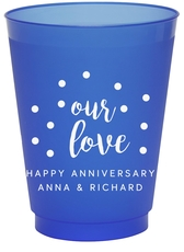 Confetti Dots Our Love Colored Shatterproof Cups