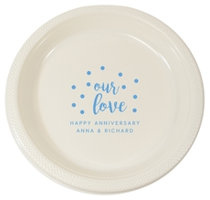 Confetti Dots Our Love Plastic Plates