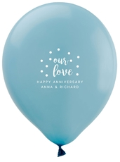 Confetti Dots Our Love Latex Balloons